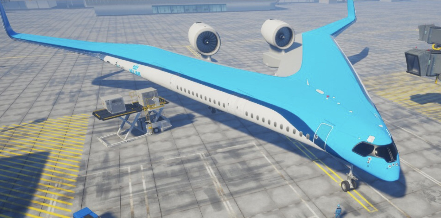Flying-V aircraft concept developed by TU Delft in collaboration with KLM, IATA Aircraft Technology Roadmap to 2050